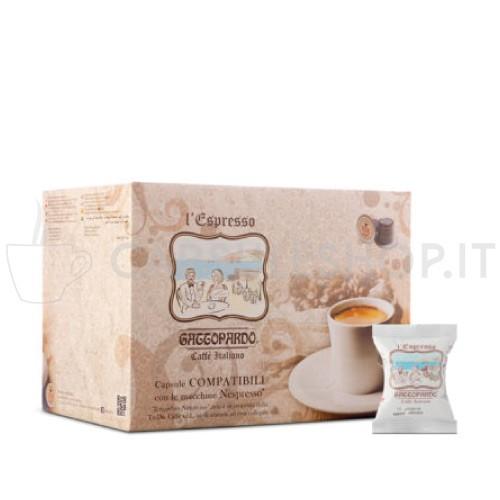 Espresso blu caffè in capsule compatibili Nespresso di Gattopardo Toda
