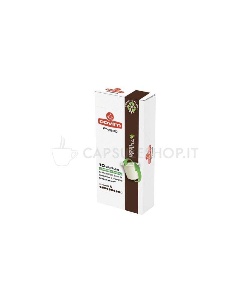Compatibili nespresso compostabile covim terra