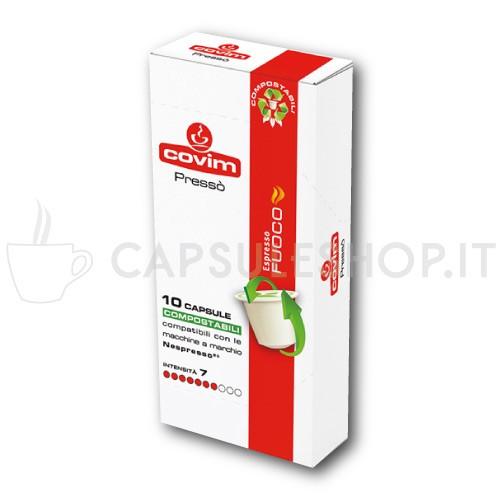 Compatibili nespresso compostabile covim fuoco