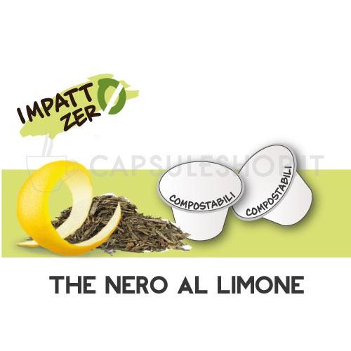 Passione 88 capsule compatibili nespresso compostabili the nero limone