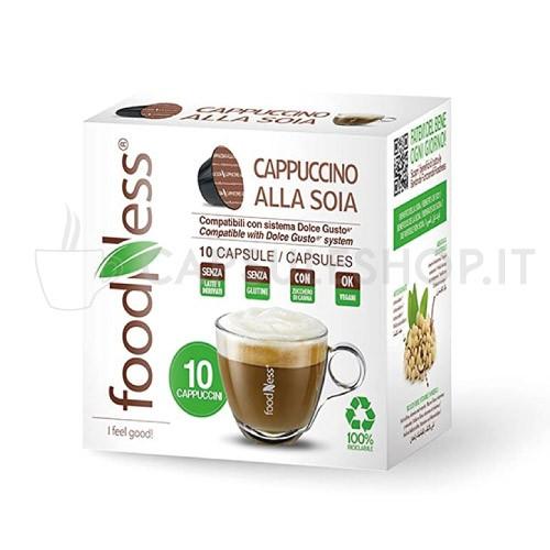capsule compatibili dolce gusto foodness linea benessere cappuccino alla soia