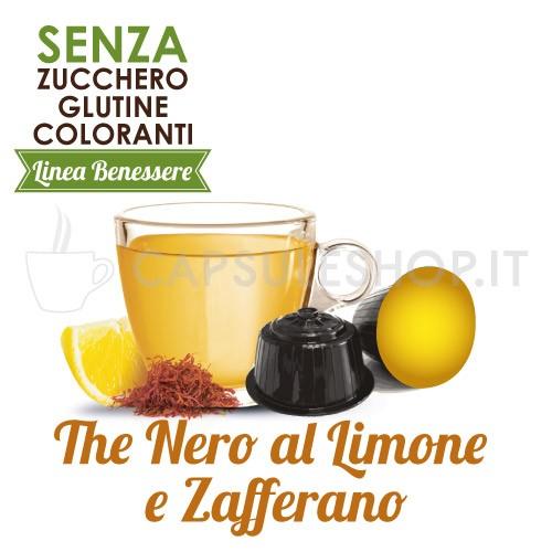 Capsules compatibles Dolce Gusto. thé noir au citron et safran