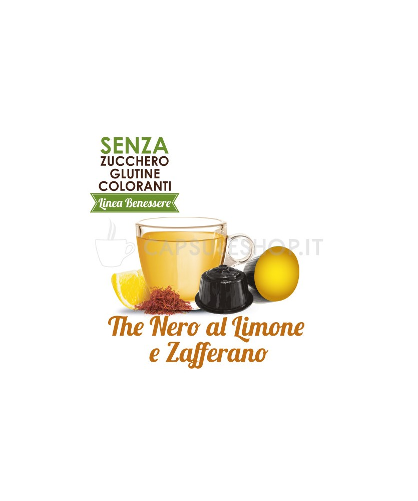 Dolce Gusto compatible capsules. black tea with lemon and saffron