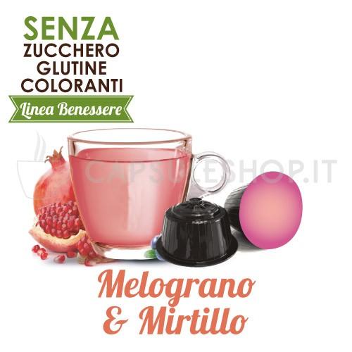capsule compatibili dolce gusto foodness linea benessere melograno e mirtillo