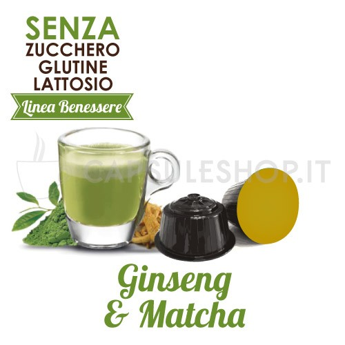 capsule compatibili dolce gusto foodness linea benessere ginseng e matcha