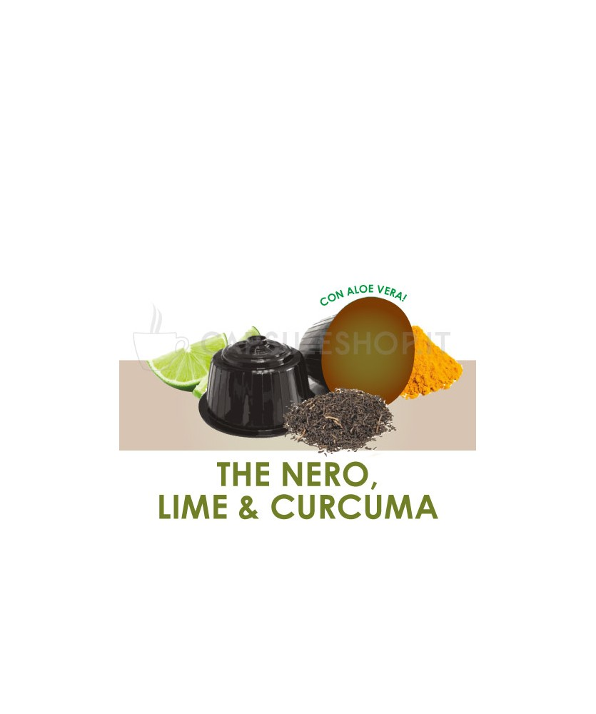 Dolce Gusto compatible capsules. lime black tea and turmeric