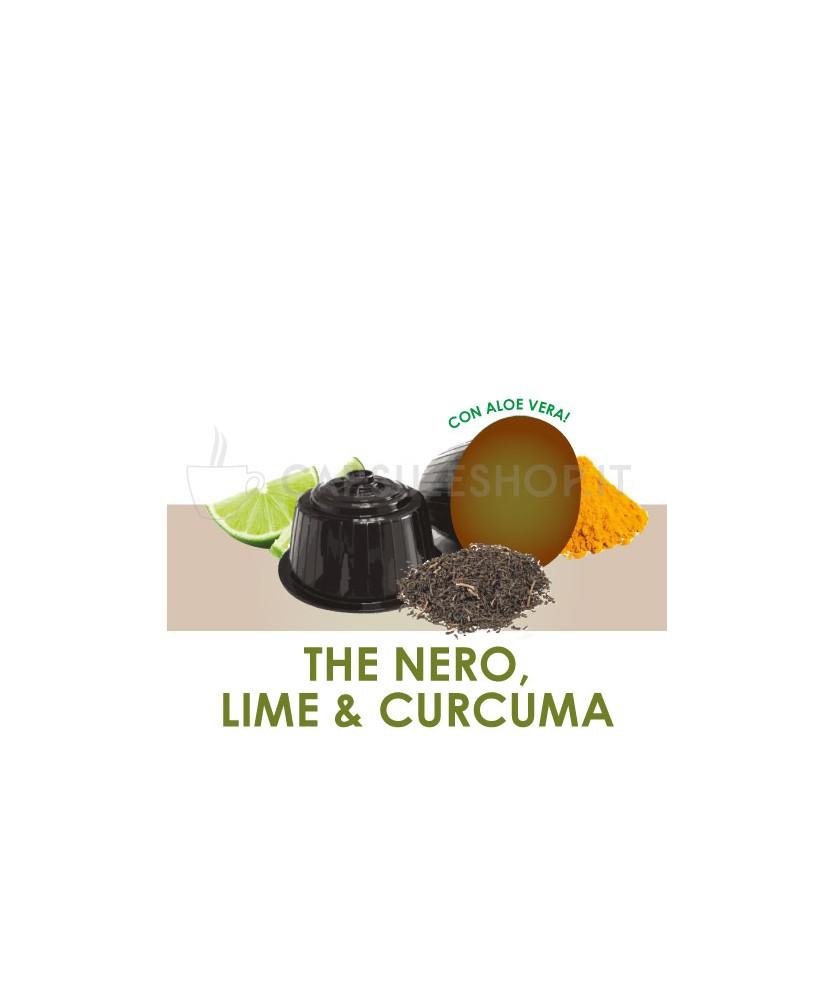 Capsules compatibles Dolce Gusto. thé noir citron vert et curcuma