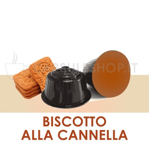 Dolce Gusto compatible capsules. cinnamon biscuit