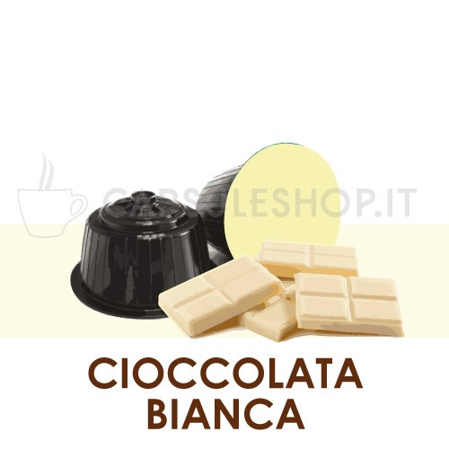 Capsules compatibles chocolat blanc Dolce Gusto