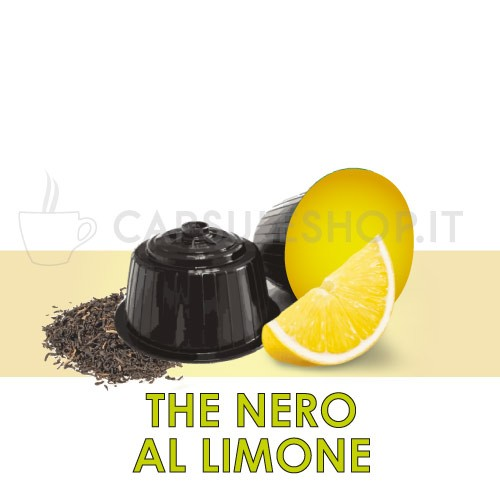 Dolce Gusto-compatibele capsules. zwarte citroenthee