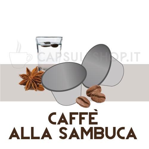 Koffie met sambucasmaak nespresso