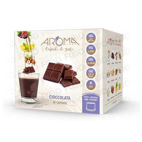 capsule compatibili Uno System cioccolata aroma light