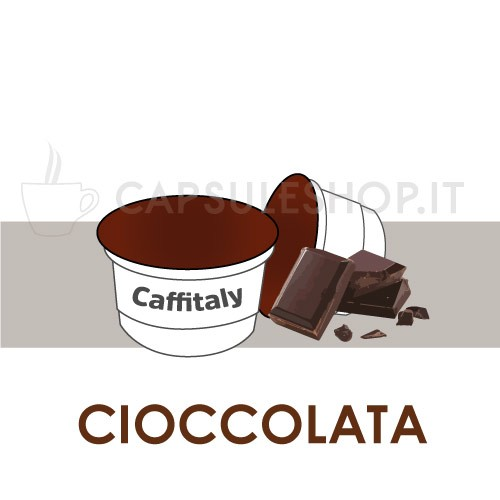 Chocolate in caffitaly capsules