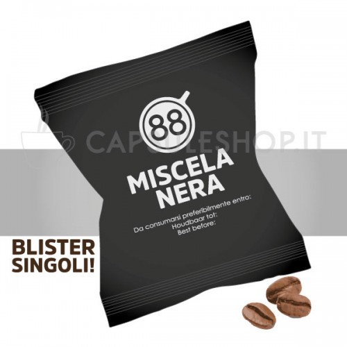 capsule compatibili nespresso miscela nera passione 88