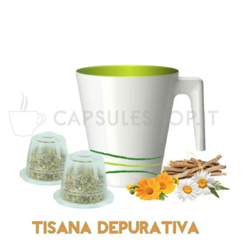 Purifying herbal tea for Nespresso machines