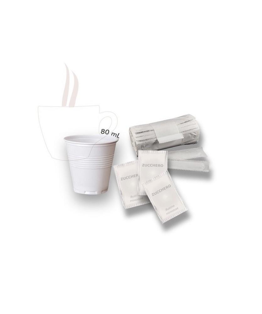 Set bicchieri, palette e zucchero per espresso