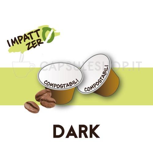 Passione 88 capsule compatibili nespresso impatto zero dark
