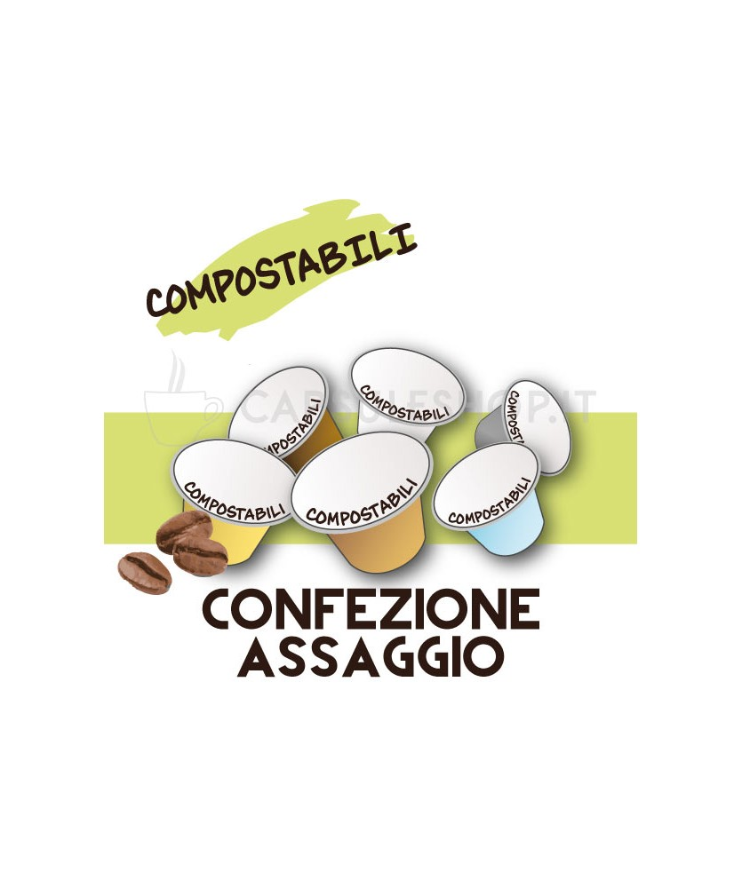 Confezione assaggio compostabili per nespresso